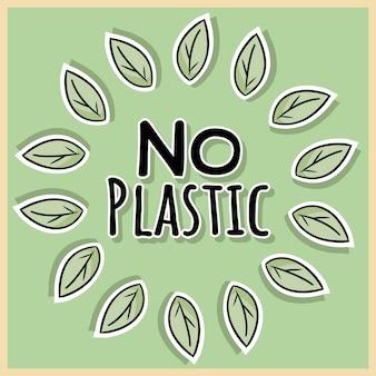 Nenhum cartaz de plástico. motivação ecológica e sem desperdício. eco amigável e sem vida de plástico