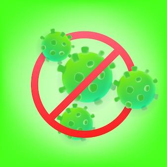 Nenhum conceito de vírus. ilustração 3d