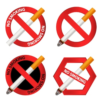 Nenhum conjunto de ícones de fumar