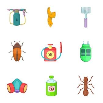Nenhum conjunto de insetos, estilo cartoon