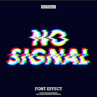 Nenhum efeito de tipo de sinal de sinal