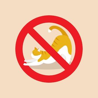 Nenhum gato permitido sinal