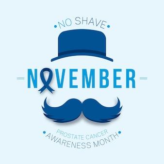 Nenhum mês de conscientização sobre o barbear para câncer de próstata