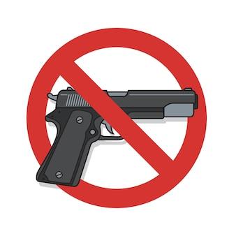 Nenhum sinal de armas.