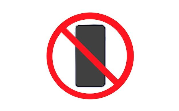 Nenhum sinal de telefone nenhum ícone de falar e ligar ilustração vetorial de proibição de telefone celular