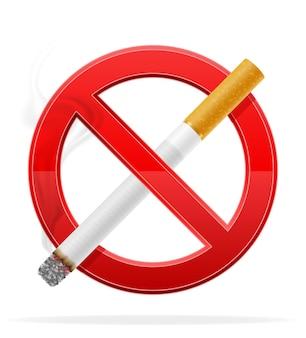 Nenhuma ilustração de sinal de fumaça isolada no branco
