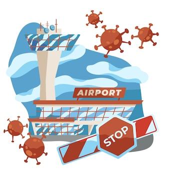 Nenhuma viagem por causa do vírus pandêmico