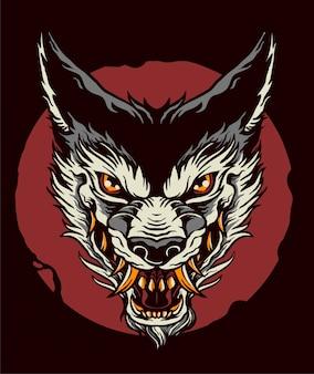 Neo tradicional lobo tatto design