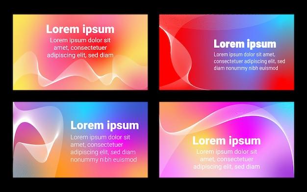Neon conjunto abstrato de fundos