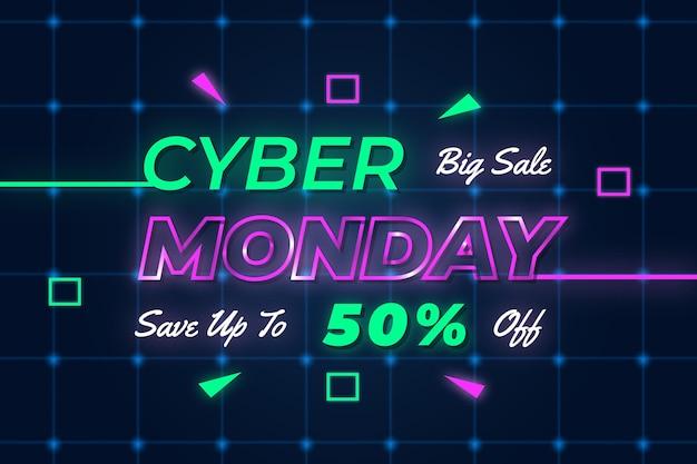 Neon cyber segunda-feira