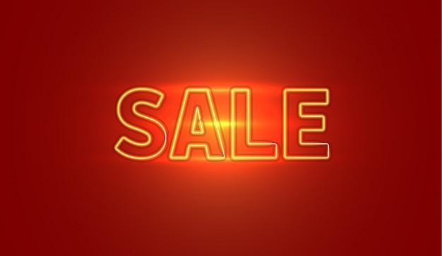 Neon de banner de venda