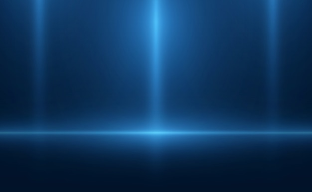 Néon de cena azul de fundo vazio