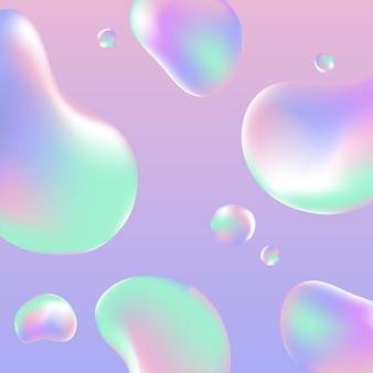 Néon de gradiente holográfico líquido. fundo abstrato em cor neon pastel. modelo de design moderno.