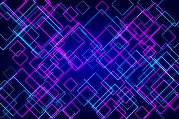 Néon geométrico abstrato