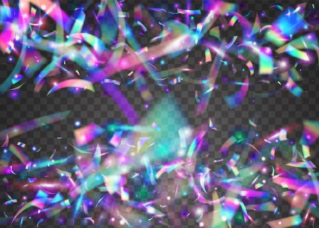 Neon glare. efeito carnaval. arte surreal. folha festiva. luz solar do laser vaporwave. blur prism. textura cristal. confete retro roxo. brilho de néon azul