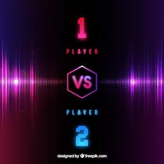 Neon luta fundo com dois jogadores