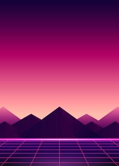 Neon rosa ladscape