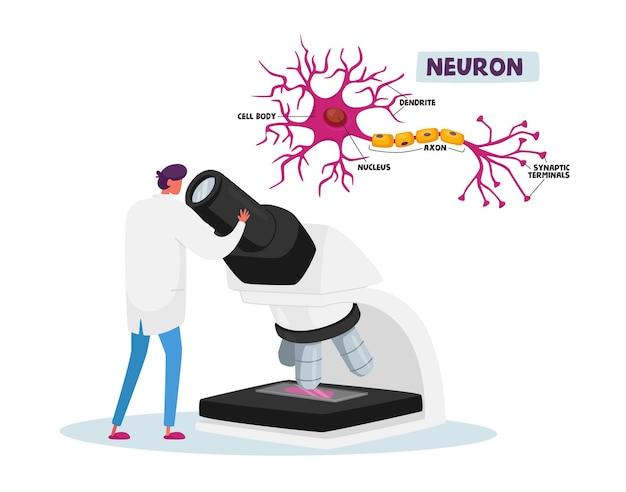 Neurobiologia ou pesquisa de laboratório químico, conceito de experimento