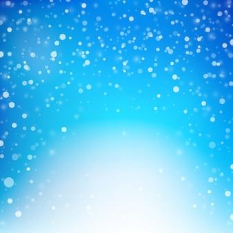 Neve caindo com fundo de efeito de iluminação