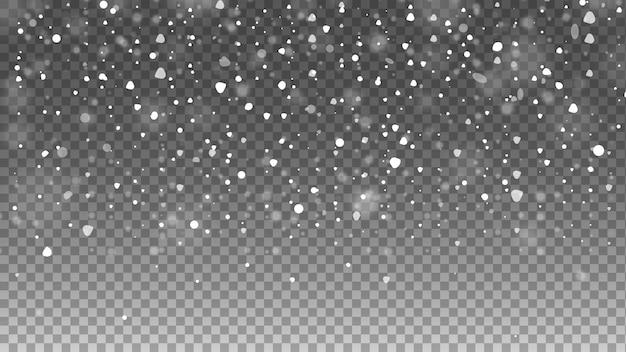 Neve caíndo. queda de neve.