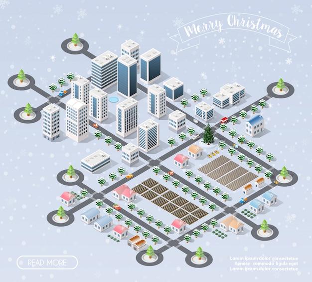 Neve de ano novo de natal