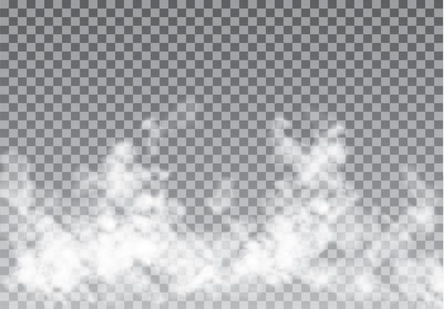 Névoa ou fumaça isolado efeito especial transparente.