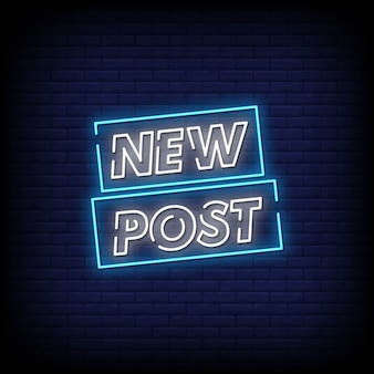New post neon signs estilo de texto