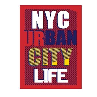 New york brooklyn tipografia crianças camiseta vector