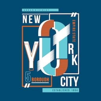 New york city medern design de tipografia vintage