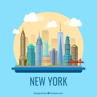 New york ilustração da cidade