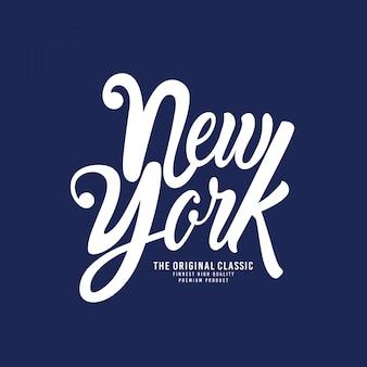 New york - tipografia para t-shirt