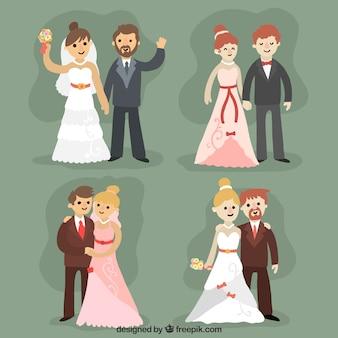 Newlyweds encantadores casais