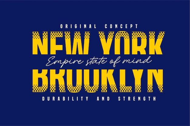 Newyork e brooklyn - tipografia