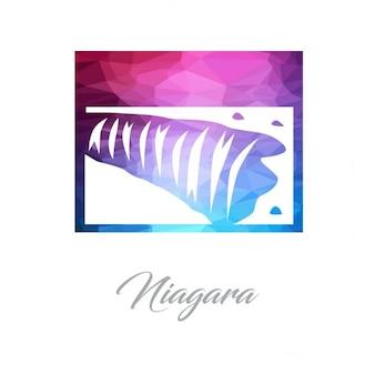 Niagara queda monumento logotipo polygon