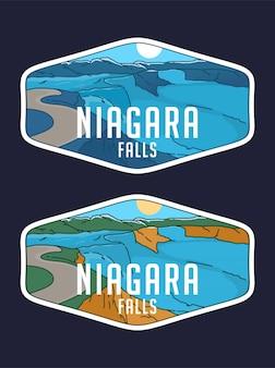 Niagra fall monoline badge