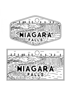 Niagra fall monoline badge
