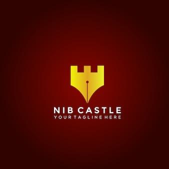Nib castle vector logo