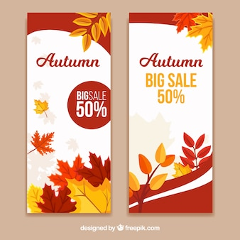 Nice banners de desconto para o outono