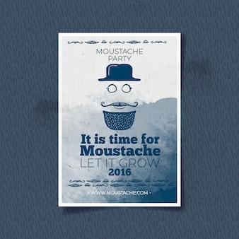 Nice brochura para movember pintados com aguarela