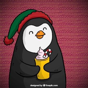 Nice cartoon christmas pinguim