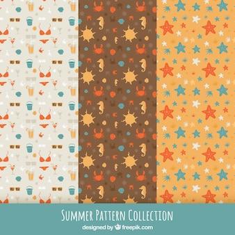 Nice coleção de padrões de verão