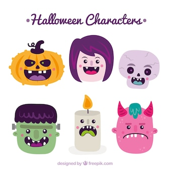 Nice conjunto de personagens de halloween