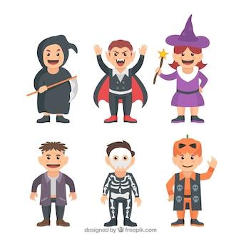 Nice crianças prontas para o dia das bruxas