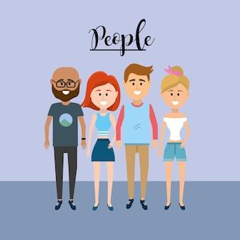 Nice pessoas em conjunto com design de roupas