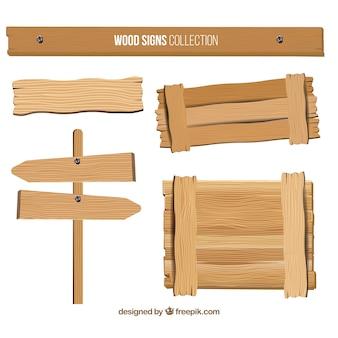 Nice seleção de sinais de madeira
