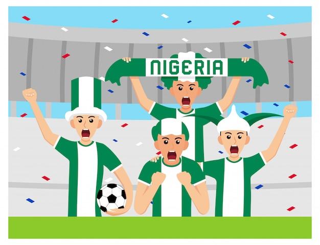 Nigéria apoiadores em design plano
