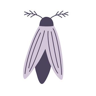 Night moth. elemento para o halloween. mágico, oculto, cartão postal, impressão, pôster.
