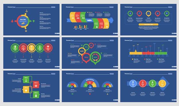 Nine recruitment slide templates set
