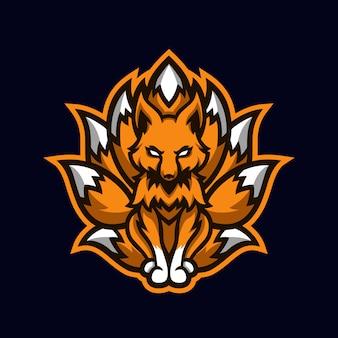 Ninetails orange fox esport mascote