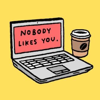 Ninguém gosta de você simples vetor simples